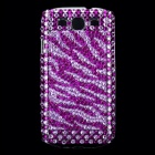 Crystal Protective Plastic Back Case for Samsung i9300 Galaxy S3 - Silver + Purple