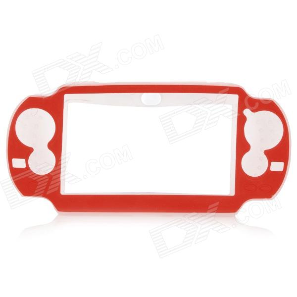 Protective Soft Plastic Case for PS Vita - White + Red