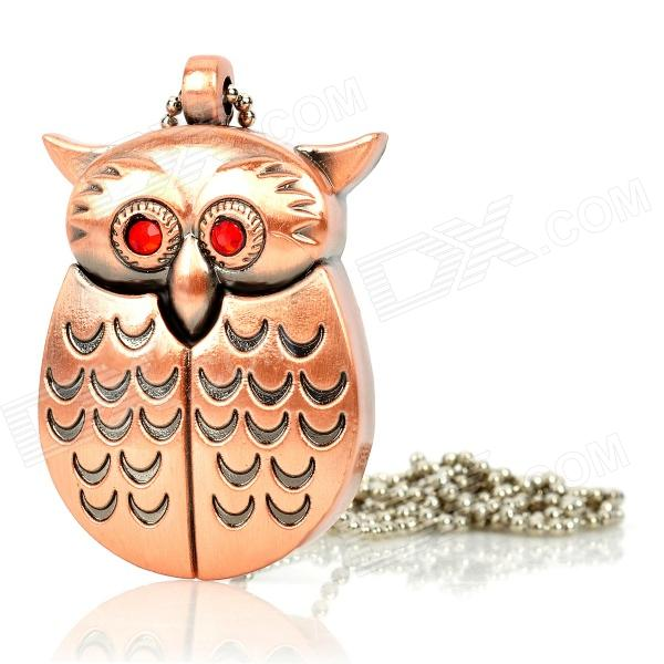 Owl Style Iron USB 2.0 Flash Drive - Copper (4GB)