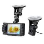 2.8'' LED 2MP Wide Angle Separated Style Car DVR Camcorder w/ Rear View / TF / Mini USB / Mini HDMI