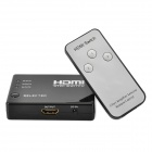 RM301 4-Port-Switch 1080p HDMI V1.3 w / Fernbedienung - Schwarz (3-in / 1-Out)
