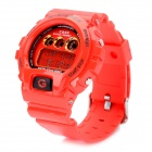 Multifunction PU Band Waterproof Digital Wrist Watch w/ Alarm / Timer - Red (1 x MAXELL CR2025)