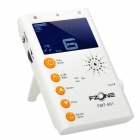 "FMT-601 2.2"" LCD Digital Chromatic Metronome Tuner for Guitar / Bass + More - White (2 x AAA)"