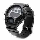 Multifunction PU Band Waterproof Digital Wrist Watch w/ Alarm / Timer - Black (1 x MAXELL CR2025)