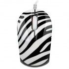YAFOX S350 USB Powered Wired 1000dpi Optical Mouse - Black + White