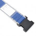 Luggage Belt Strap w/ Quick Release Buckle / ID Tag - Blue + Grey + Black (2m)