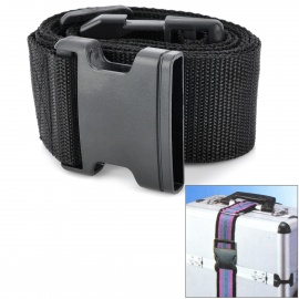 Luggage Belt Strap w/ Quick Release Buckle / ID Tag - Black (2m)