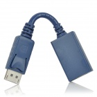 Display Port DP Female 20-Pin to HDMI Male A Video Connection Cable - Blue