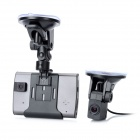 3.5'' LED 1.3MP Wide Angle Separated Style Dual-Lens Car DVR w/ Rear View / TF / Mini USB / AV-out