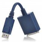 Display Port DP Male 20-Pin to DVI Female 24+5 Pin Video Connection Cable - Blue