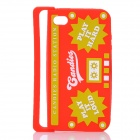 Radio Style Protective Silicone Back Case for iPhone 4 / iPhone 4S - Red + Yellow