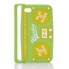 Radio Style Protective Silicone Back Case for iPhone 4 / iPhone 4S - Green + Yellow