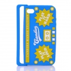 Radio Style Protective Silicone Back Case for iPhone 4 / iPhone 4S - Blue + Yellow