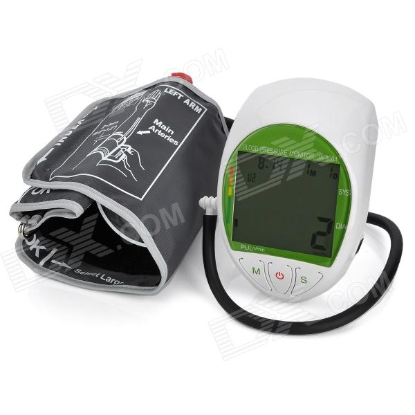 "JA-8001 3.2"" LCD Oscillometric Wrist Watch Blood Pressure Monitor - White (4 x AA)"