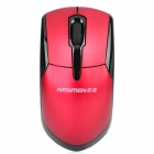 MS-159OR 2.4GHz Wireless 1000dpi Optical Mouse w / USB-Receiver - Deep Red (2 x AAA)