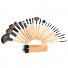 Professional Cosmetic Makeup Brushes Set - Black + Brown (32 PCS)
