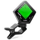 "FT-800 1.2"" LCD Green Digital Chromatic Guitar Tuner for Guitar / Bass / Violin - Black (1 x 2023)"