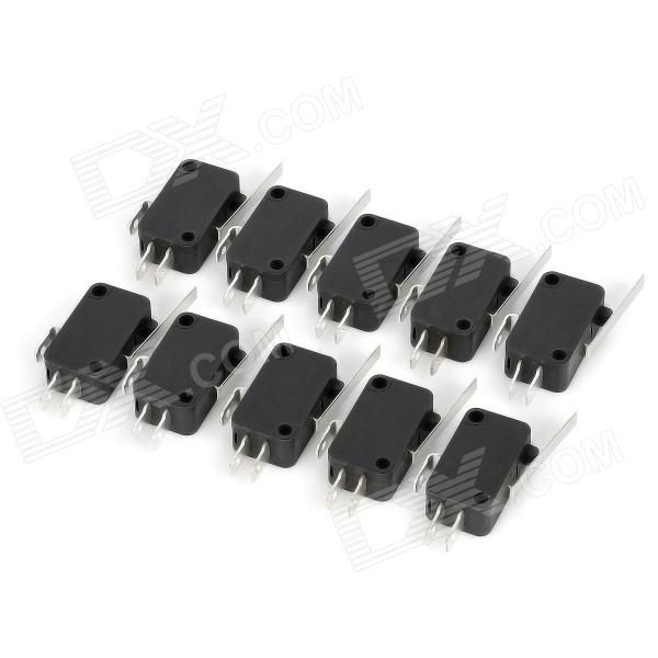 Фото Electrical Power Control 3-Pin Micro Switches (10 PCS) 10 pcs d sub vga db 15 pin male solder type connector socket 2 rows db15f male