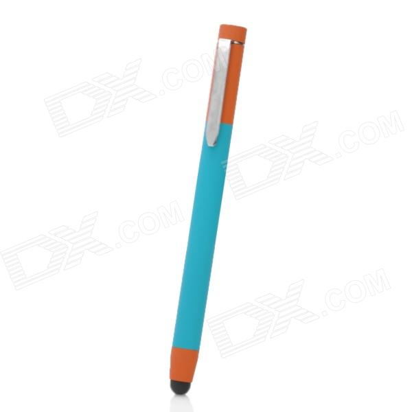 Capacitive Screen Stylus Pen for Iphone / Ipad w/ Clip - Blue + Brown