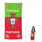 Portugal National Football Team Style Cotton Beach Bath Towel - Red + Green