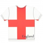 Word Cup England Jersey Shape Mouse Pad Mat - Red + White (17.5 x 20 x 0.4cm)