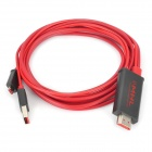 1080p HDMI to Micro USB MHL Cable w/ USB Port - Black (2m)