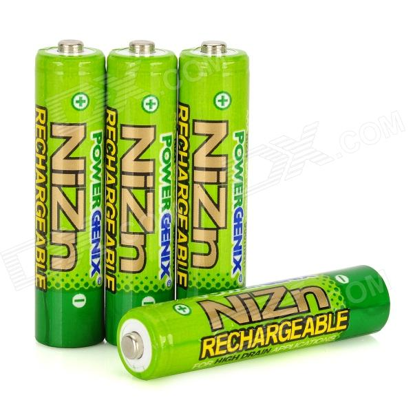 PowerGenix Rechargeable 900mWh 1.6V AAA Ni-Zn Battery - Green (4 PCS) ultrafire aaa 1 2v 800mah rechargeable ni mh batteries green black 4 pcs