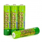 PowerGenix Rechargeable 900mWh 1.6V AAA Ni-Zn Battery - Green (4 PCS)