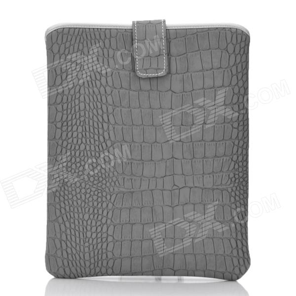 Crocodile Haut-Muster Protective Artificial Leather Waterproof Tasche für Tablet - Grey