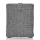 Crocodile Skin Pattern Protective Artificial Leather Waterproof Case Bag for Tablet - Grey