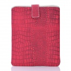 Crocodile Skin Pattern Protective Artificial Leather Waterproof Case Bag for Ipad / Ipad 2 - Red