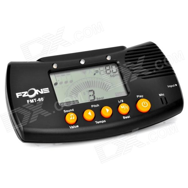 FMT-60 2.0 LCD Digital 3-in-1 Metronome / Tuner / Tone Generator - Black (2 x AAA) fmt 60 2 0 lcd digital 3 in 1 metronome tuner tone generator black 2 x aaa