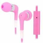 Stylish In-Ear Earphone w/ Microphone for Iphone 3g / 3GS / 4 / 4S / Ipod / Ipad - Pink