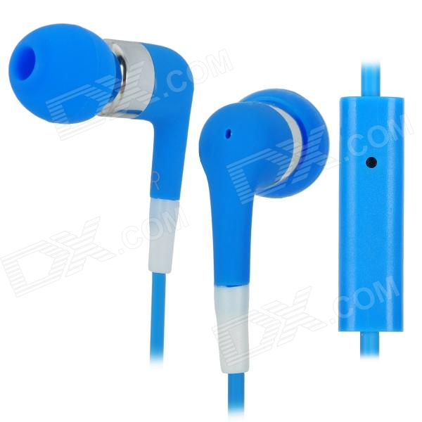 Stylish In-Ear Earphone w/ Microphone for Iphone 3g / 3GS / 4 / 4S / Ipod / Ipad - Blue 3 5mm headphone headset adapter with microphone for iphone 3g 3gs 4 white 70cm cable