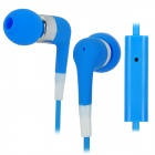Stylish In-Ear Earphone w/ Microphone for Iphone 3g / 3GS / 4 / 4S / Ipod / Ipad - Blue