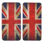 Flag of United Kingdom Pattern Protective Back + Front Sticker for Iphone 4/4S - White + Red + Blue