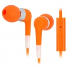 Stylish In-Ear Earphone w/ Microphone for Iphone 3g / 3GS / 4 / 4S / Ipod / Ipad - Orange