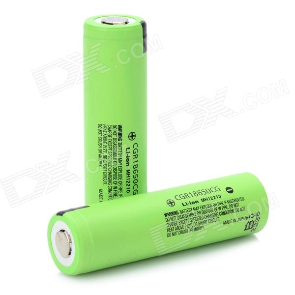 Genuine Panasonic Rechargeable 2200mAh 3.7V 18650 Lithium Batteries (2PCS) liitokala 2pcs li ion 18650 3 7v 2600mah batteries rechargeable battery with portable battery box and 2 slots usb smart charger