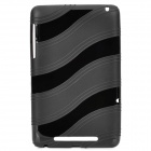 Protective Wave Pattern TPU Back Case for Google Nexus 7 - Black