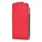 External 1700mAh Power Battery Genuine Leather Protective Case for iPhone 4 / 4S - Red