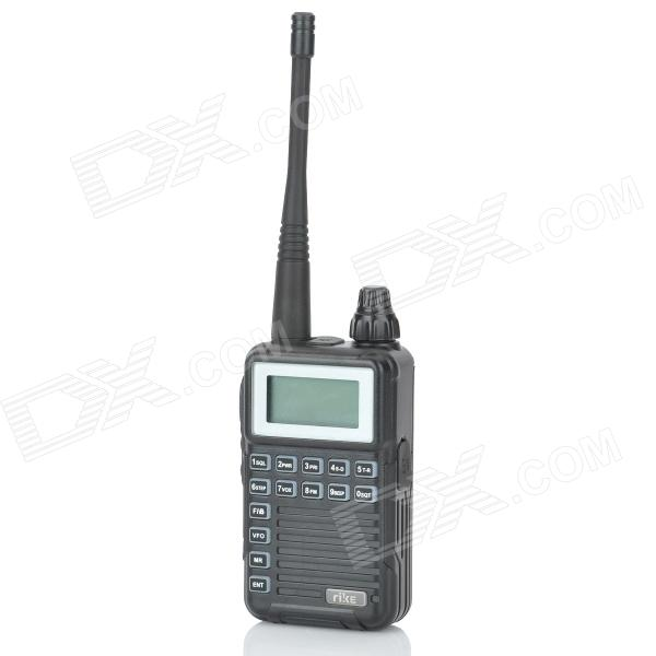 RIKE RK-2R 1.2 LCD 2W 400~470MHz Handheld Multifunctional Walkie Talkie - Black