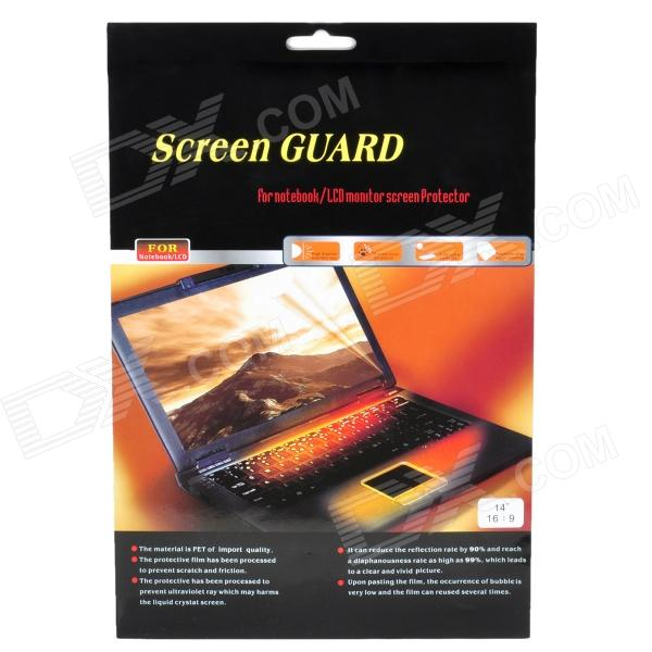 14 16:9 Screen Guard Protection Film for Notebook Laptop - Transparent - DXScreen Protectors<br>Quantity 1 Piece Color Transparent Material PET Type For Laptops Compatible Brand Universal Application Device Size 14 Function Scratch-proof High transparency up to 98%; with no bubble and no debonding; Washable for repeated use; Hight anti-static performance Packing List 1 x Screen guard 1 x Cleaning cloth<br>