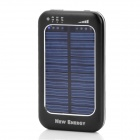 WN-808 3500mAh Portable Solar Powered Panel Charger for iPhone 4 / 4S / iPad 1 / 2 - Black