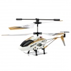 Rechargeable 3.5-CH IR Controlled Alloy R/C Helicopter w/ Gyroscope - White + Golden