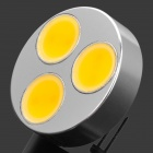 G4 4.5W 3500K 200lm 3-LED Warm White Bulb - White (DC 12V)
