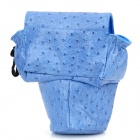 Stylish Protective Ostrich Pattern Bag for Canon 650D / 600D and Nikon D3100 - Blue