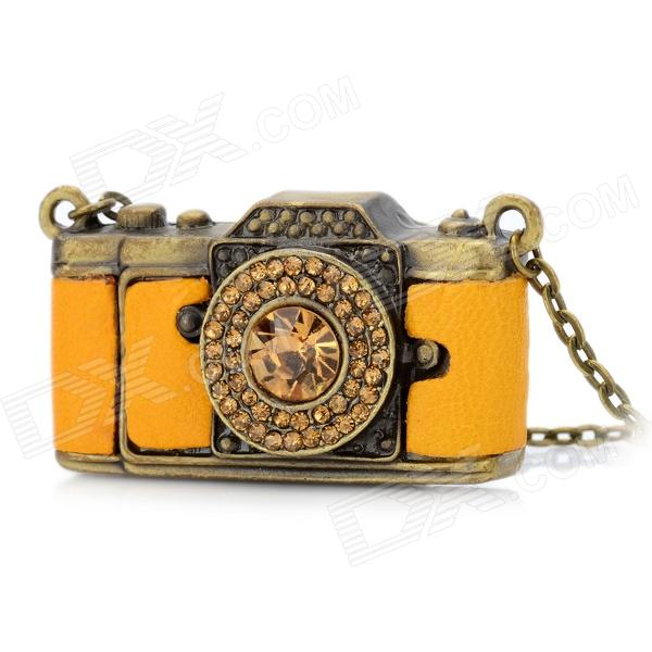 Fashion Camera Style CrystalZinc Alloy Necklace - Yellow + Copper