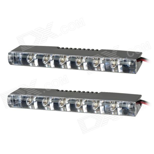 0.18W 6-LED White Light Car Daytime Running Light (12V / 2PCS)