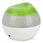 USB Powered Ultrasonic Air Humidifier w/ Blue LED Backlight - White + Green (120mL)