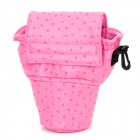 Stylish Protective Ostrich Pattern Bag for Canon 650D / 600D and Nikon D3100 - Pink